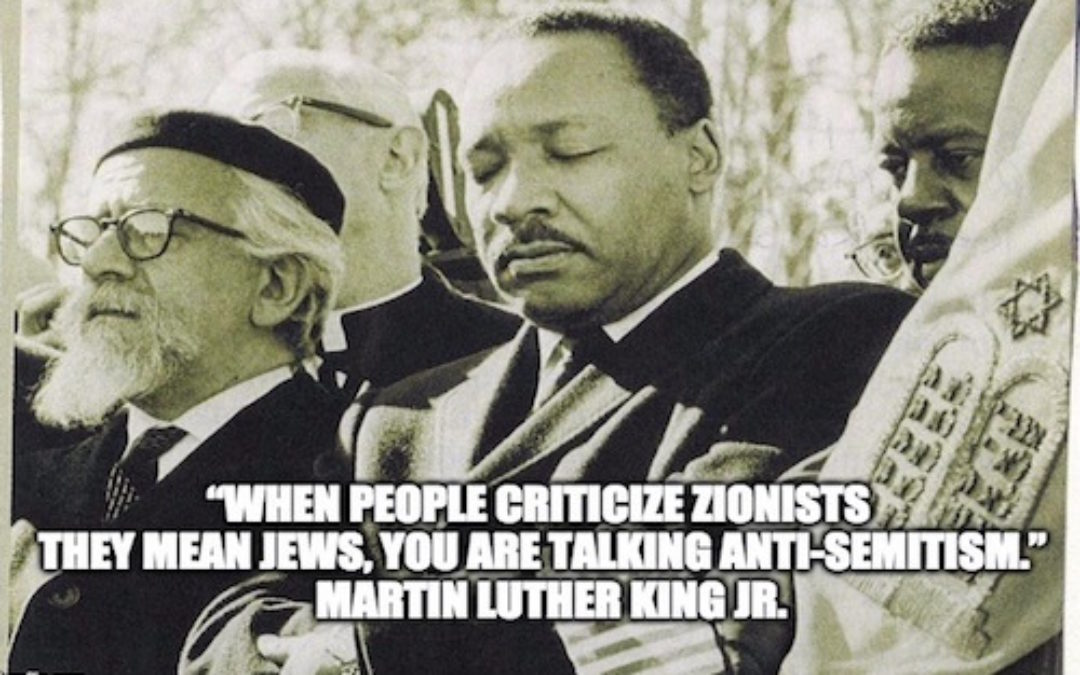 Rev. Dr. Martin Luther King Jr. Was A Zionist