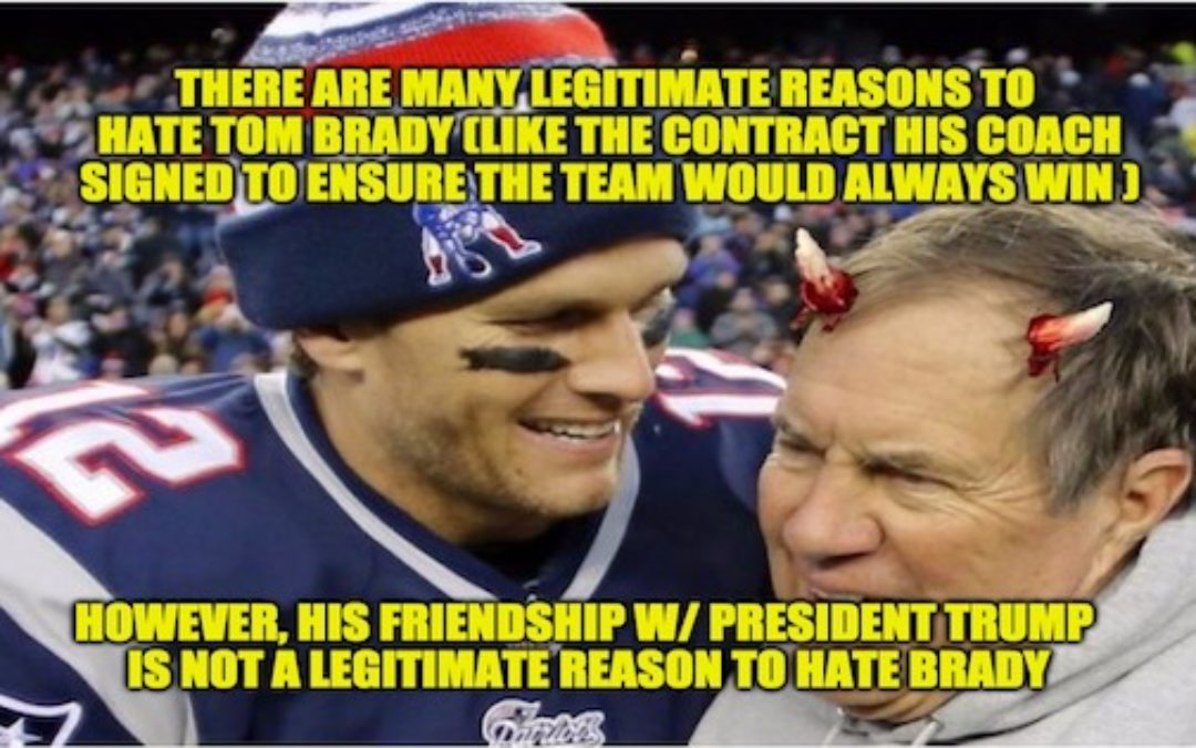 Sports Writer Attacks Tom Brady for Being Friends W/ President Trump