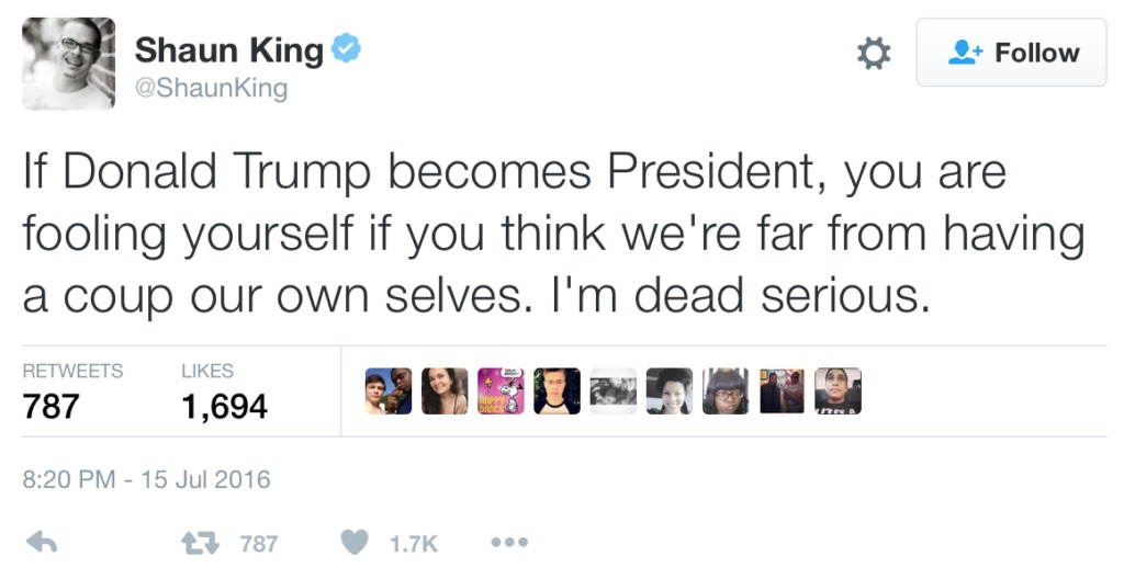 Shaun King tweet