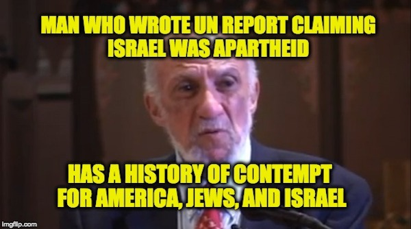 Why Isn't MSM Reporting Richard Falk's Hatred Of America, Israel, & Jews May Be Behind His Israel-Apartheid Claims?