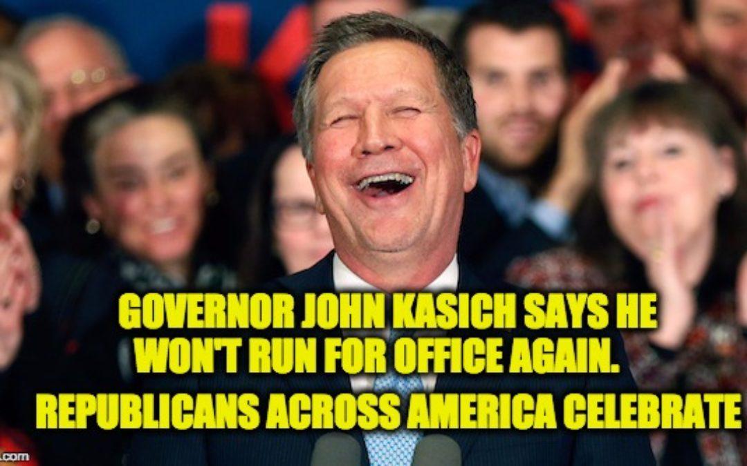 John Kasich Says He'll Never Run For Office Again (Promise?)