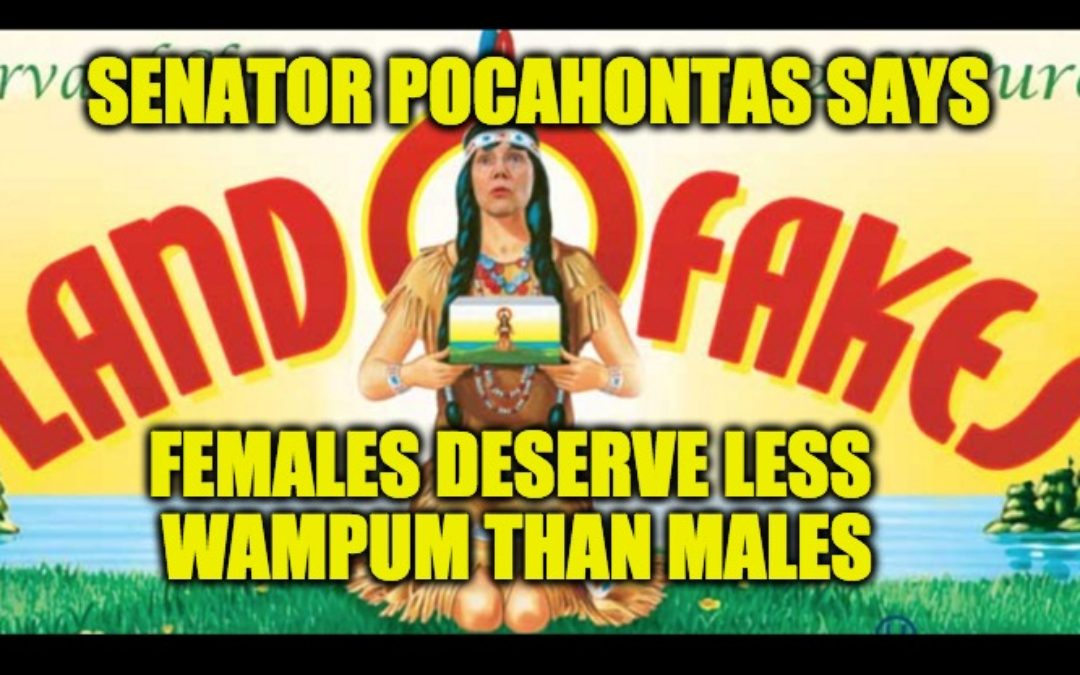 Senator Pocahontas Warren Pays Female Employees 20% Less Wampum Than Males