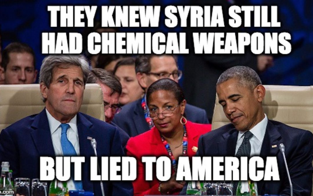 Obama Administration Knew Syria Still Had Chemical Weapons (But Lied)