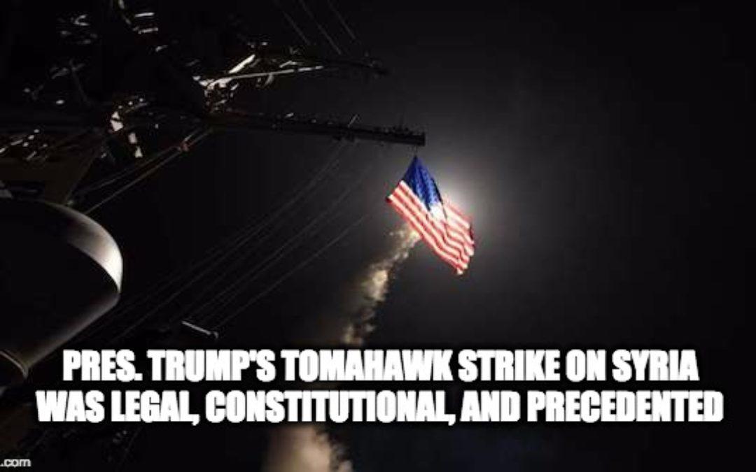 President Trump's Syria Bombing Was Constitutional (Thomas Jefferson & Harry Truman Say So)