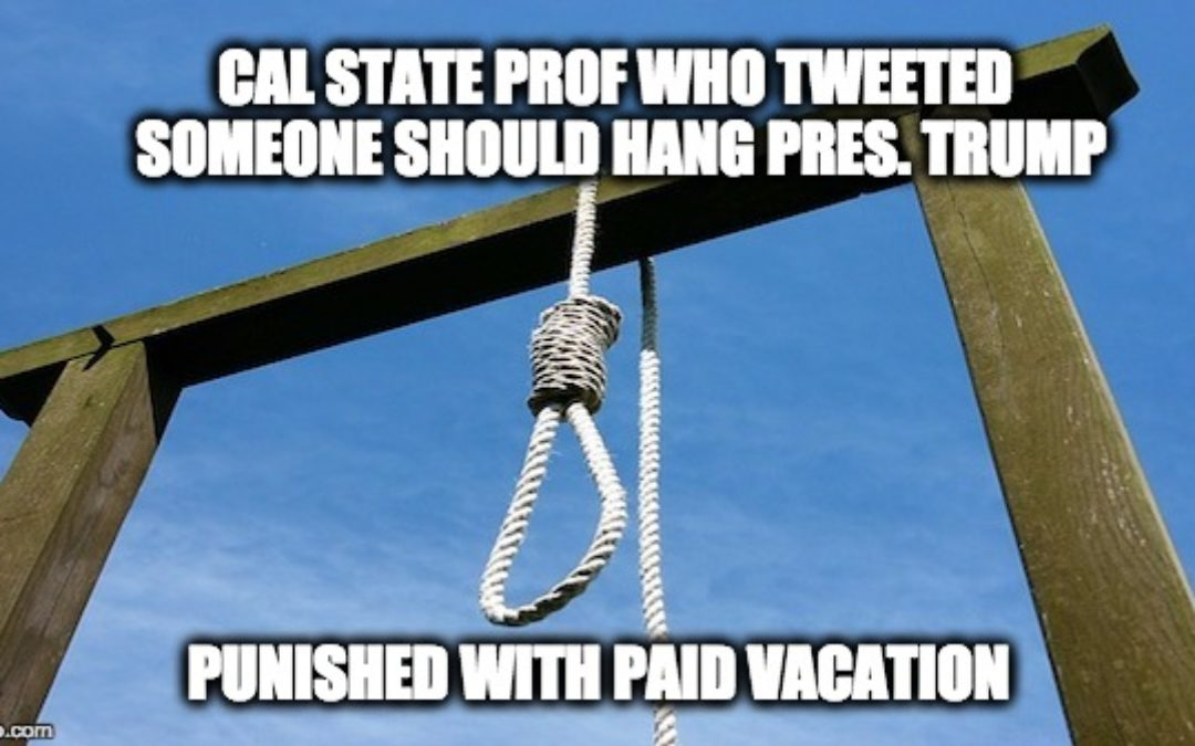 Prof. Lars Maischak Who Tweeted Hang Trump & Execute Republicans, Suspended WITH PAY