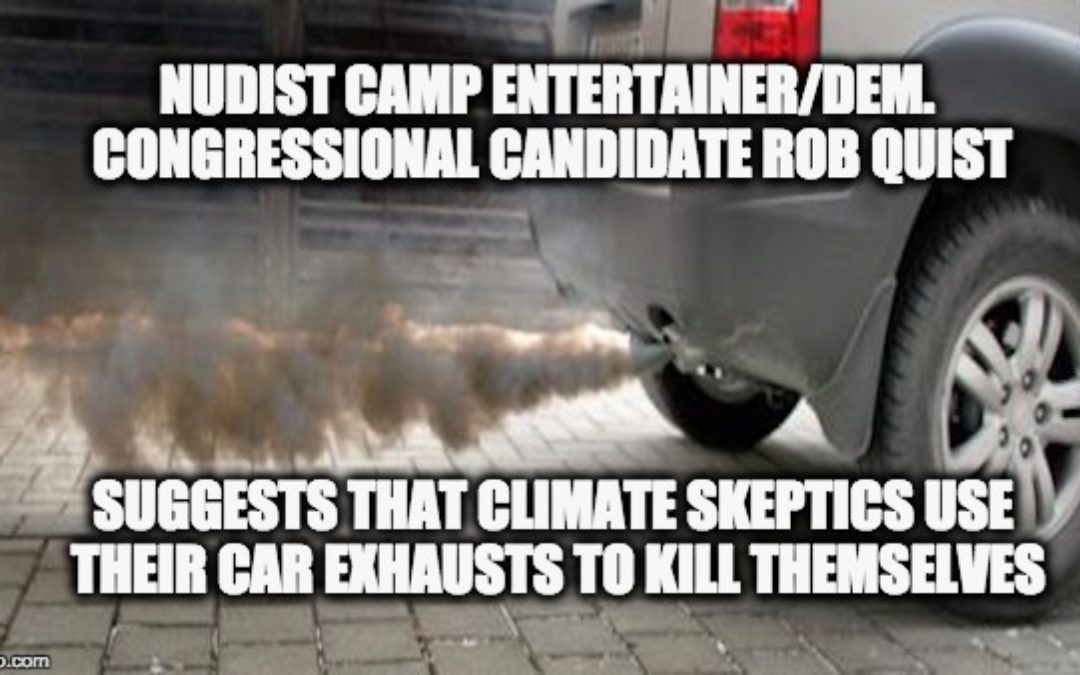 Dem Congressional Candidate Says Climate Skeptics Should Commit Suicide