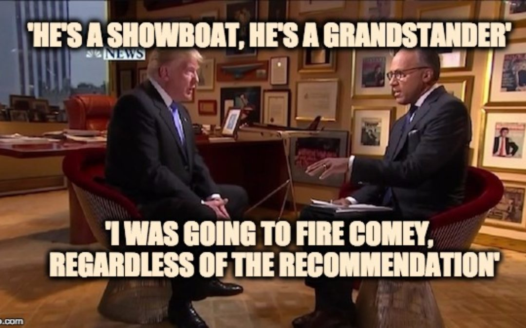Trump Tells Lester Holt  I Was Going To Fire Comey Anyway (With Video Entire Interview)