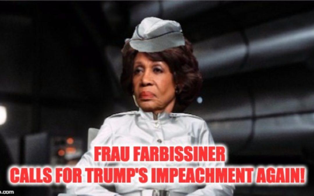 Frau Farbissiner Wannabe, Maxine Waters Calls For Trump Impeachment (AGAIN)