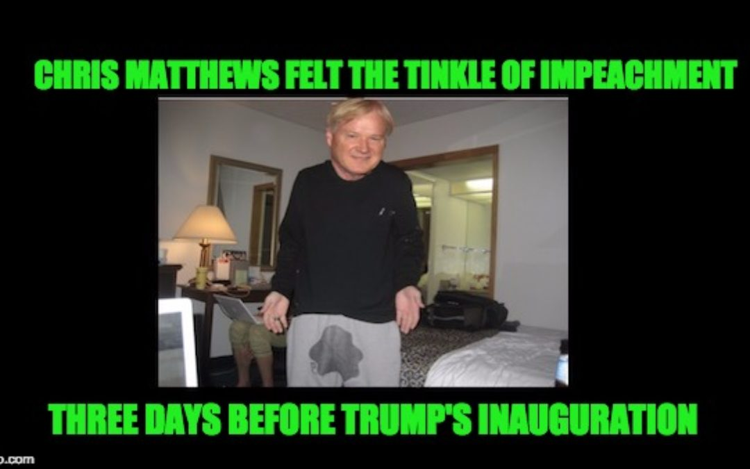 MSM Began To Mention Trump's Impeachment During His First Week In Office
