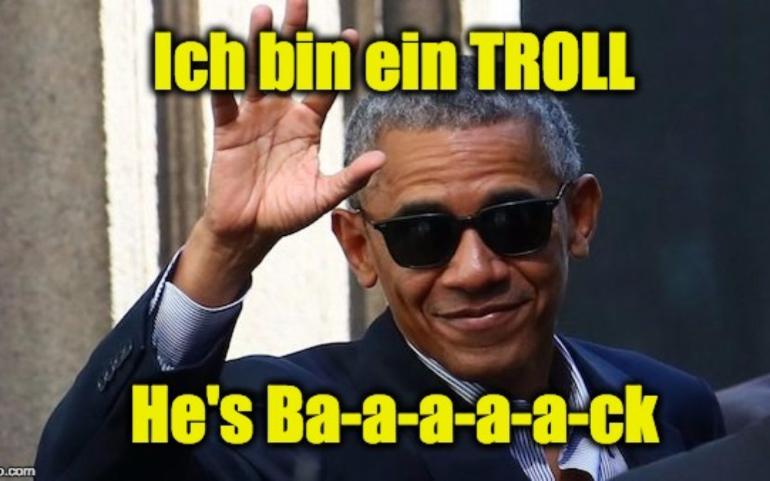 Obama Goes To Germany And Trolls Trump