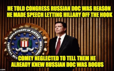 Comey WASN'T Snookered, He Knew Russian Doc. Was Fake, But Used It As Excuse Anyway