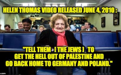 Flashback: Taking Down Helen Thomas June 4th 2010, The MSM Still Ignores The Truth