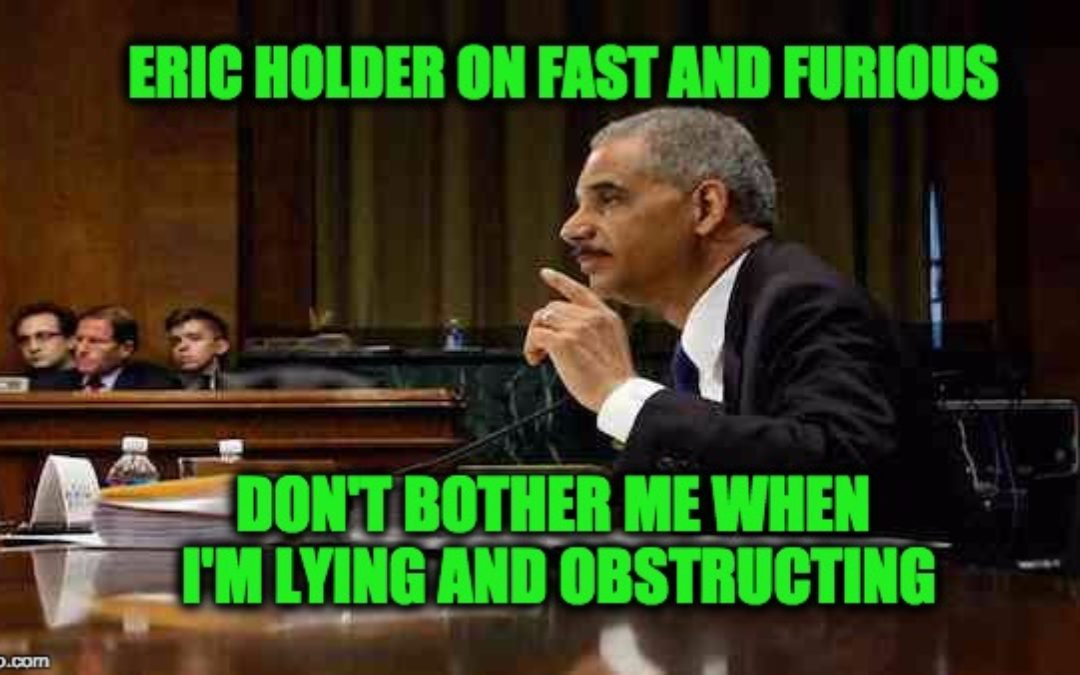 Congressional Report Blasts Eric Holder's Fast And Furious Cover-Up