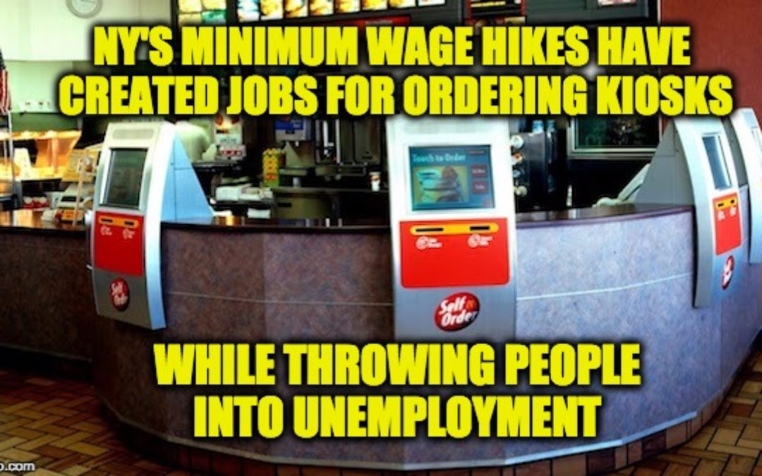 "NY State Minimum Wage Hike ""Killing"" Restaurants/ Increasing Unemployment"