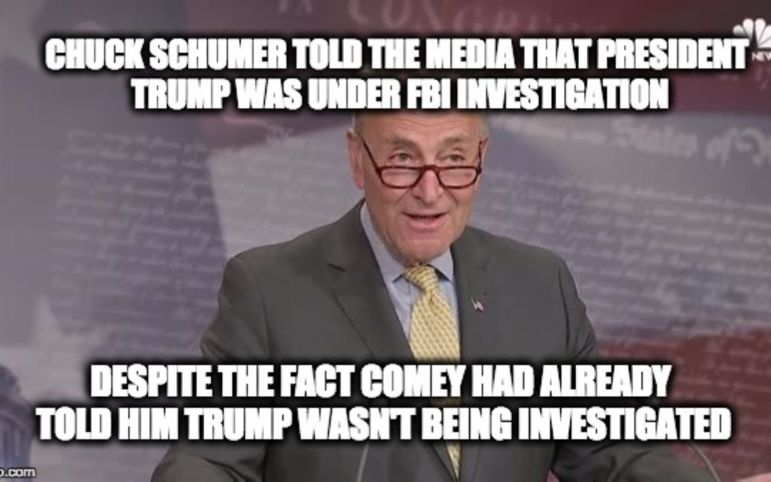 Sen. Grassley Slams Sen. Schumer For Lying In Order To Slander Pres. Trump