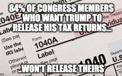 Congressional Deceit: 84% Of Members Insisting Trump Release Tax Returns, Keep Theirs Secret