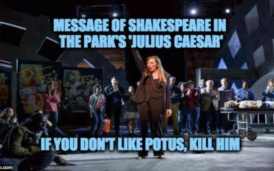 Shakespeare in the Park Dramatizes Violent Bloody Murder of President Trump
