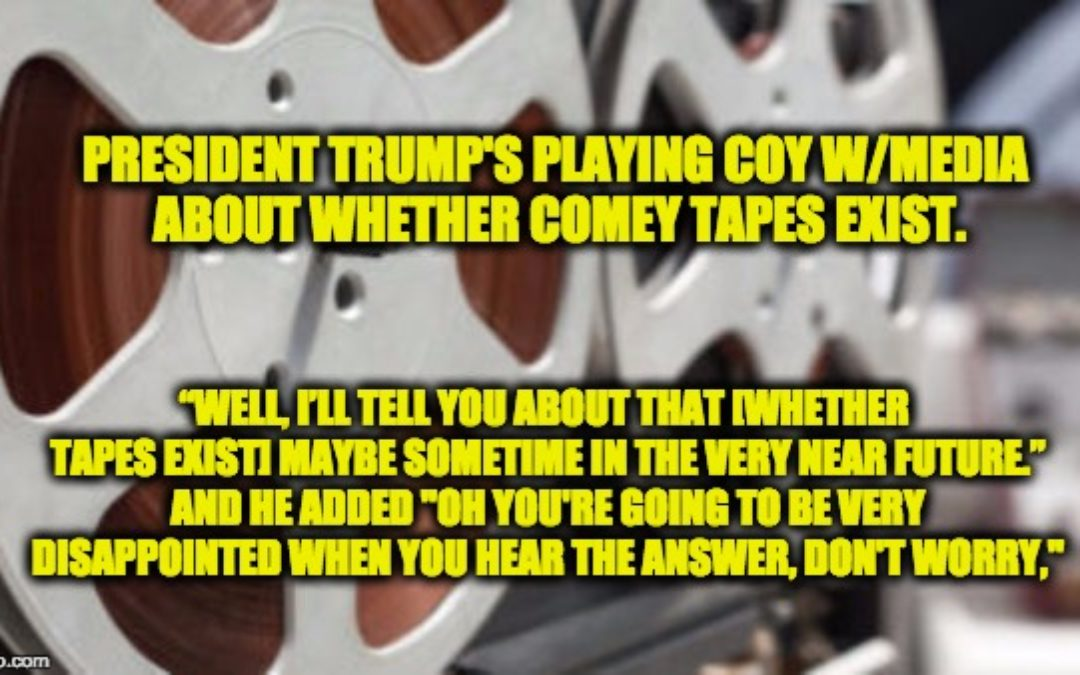 """The Intel Community is Clamoring for the """"Comey Tapes"""""""