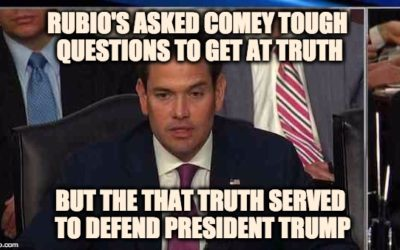 Marco Rubio's Brilliant Comey Questioning Killed Bogus Trump Scandal Stories