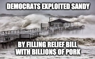 FAKE Claim: GOP Didn't Want To Pass Hurricane Sandy Aid (Bill Had Billion$ Of Unrelated Pork)