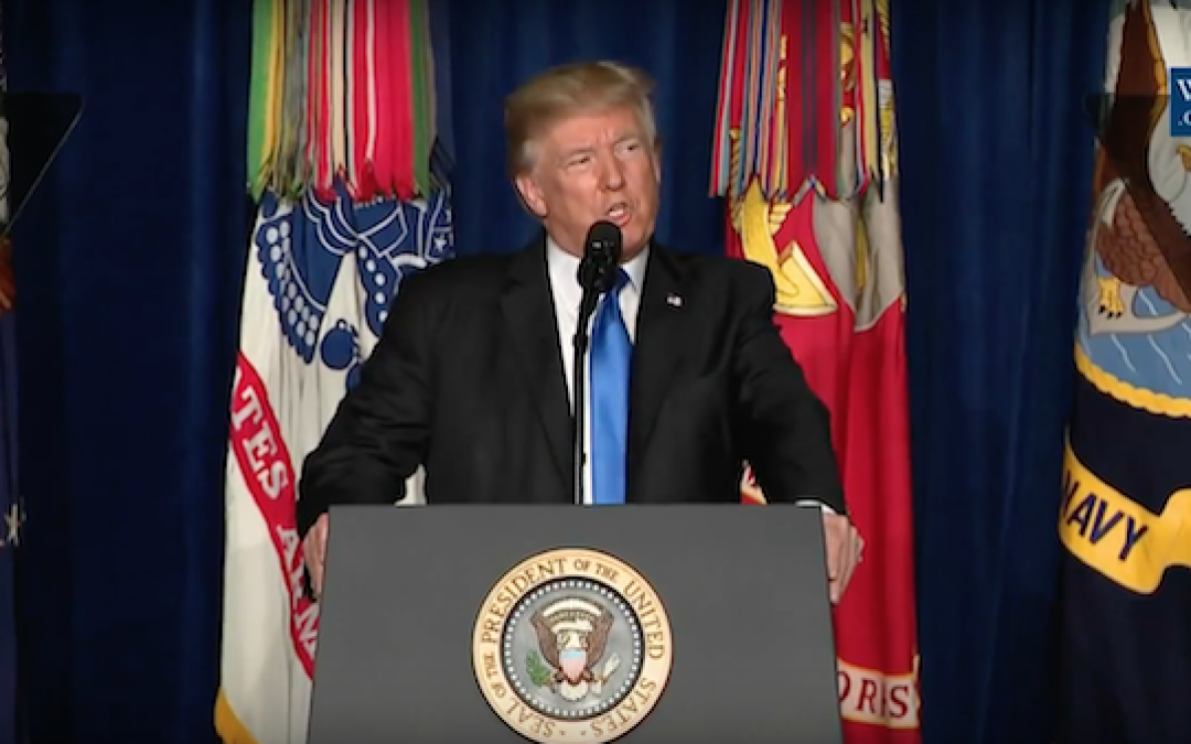 Pres. Trump's Afghanistan Speech: The Difference Is The Man