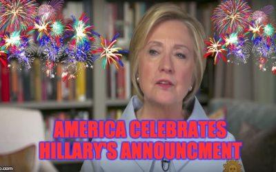 Hillary Clinton Announces WONDERFUL NEWS FOR AMERICA !