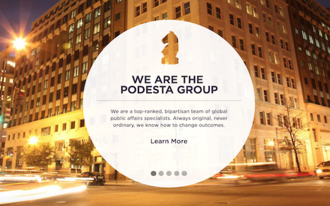 Special Counsel Mueller Investigating The Podesta Group