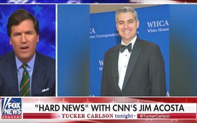 "Tucker Carlson Rips Jim Acosta ""A New One"""
