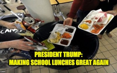 Trump Puts Obama's School Lunch Program The Same Place Kids Put The Food: The Trash