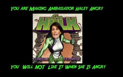U.N. Ambassador Nikki Haley Kicked UN Butt And Took No Prisoners