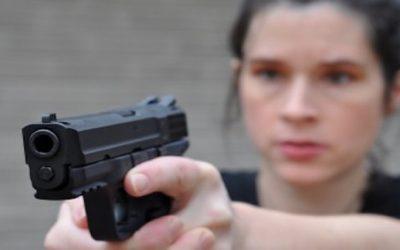 Female Hero With A Handgun Saves Policeman's Life in Georgia