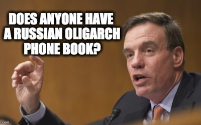 Dem. Sen. Mark Warner Colluded W/Russians To Get Private Meet W/Christopher Steele