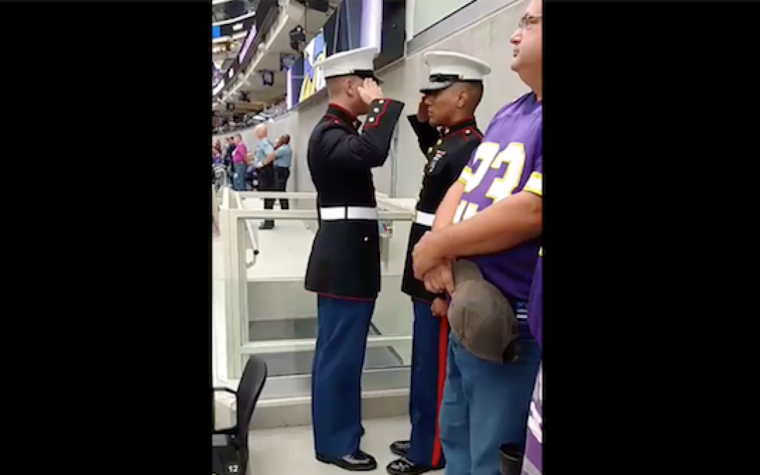 NFL Anthem Protesters Silenced with Moving Vigil by The Military