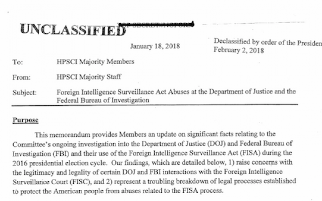 Breaking: Nunes FISA Memo Released–> Read It Here