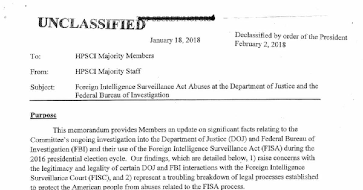 FISA Memo