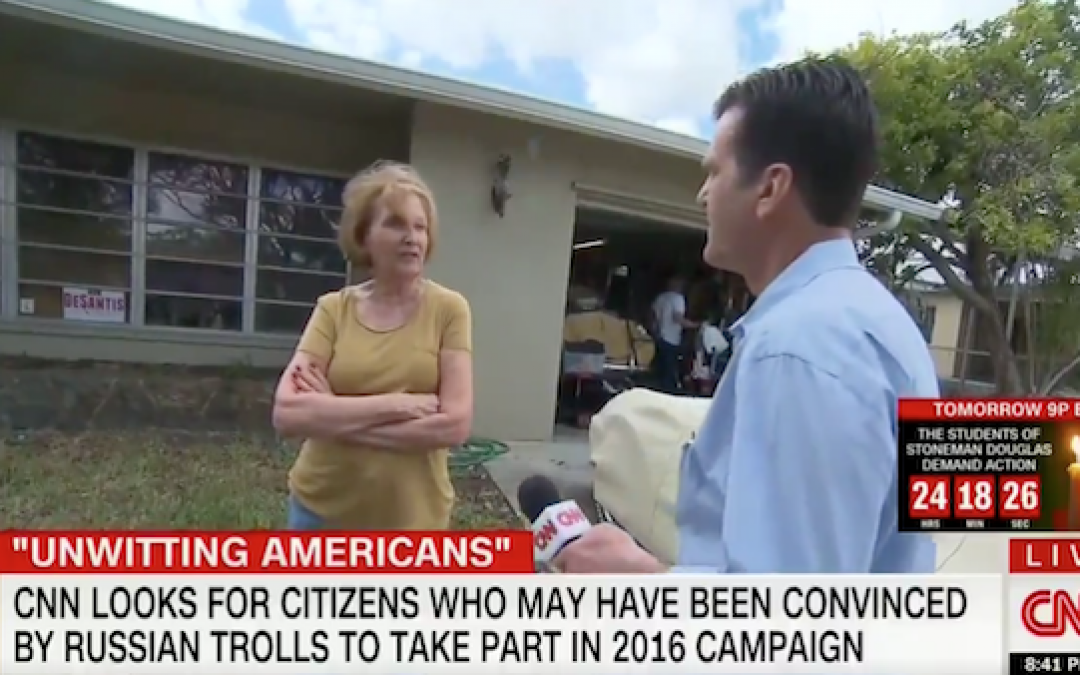 CNN Harasses Elderly Trump Supporter Over 'Involvement With Russians'