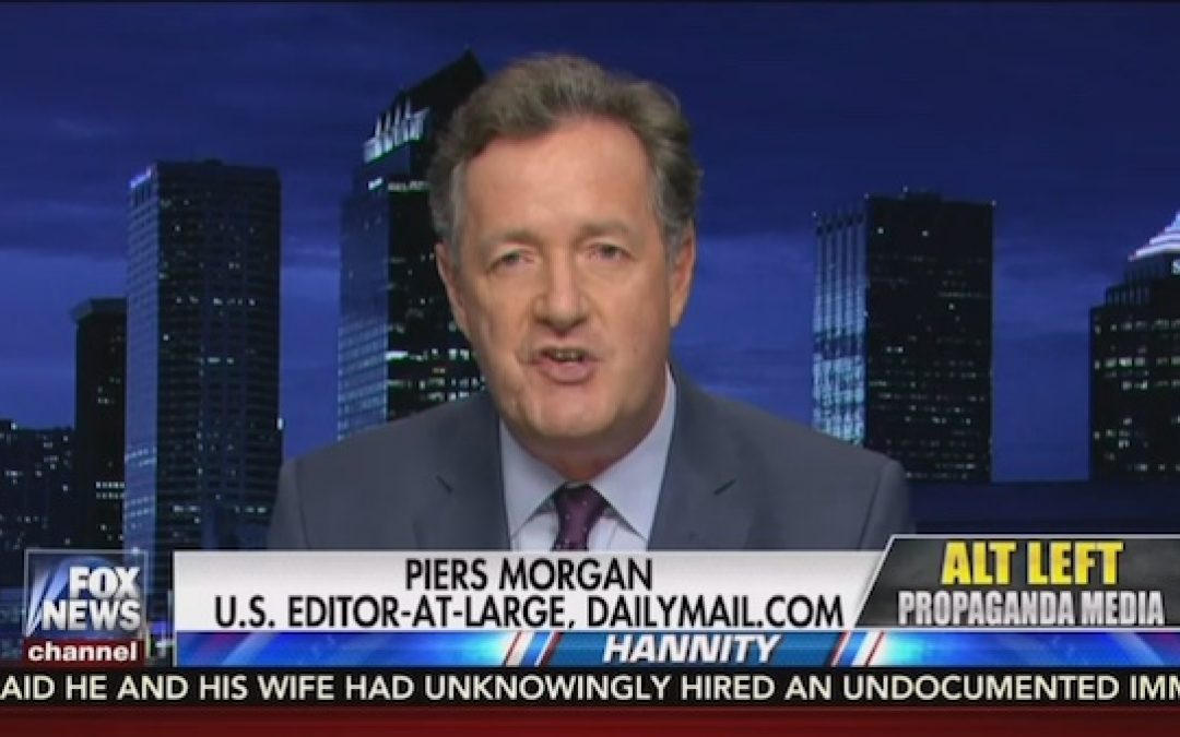 Liberal Piers Morgan Defends Trump, Slams Obama, Calls FBI 'Federal Bureau Of Incompetence'