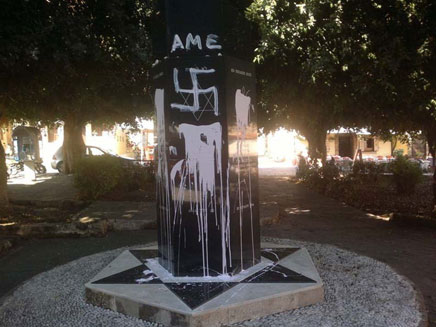 Desecration of Jewish Monument in Greece