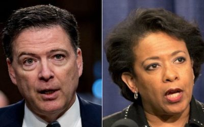 Loretta Lynch Smacks Down Comey:  He 'NEVER' Raised Concerns About Hillary Email Probe