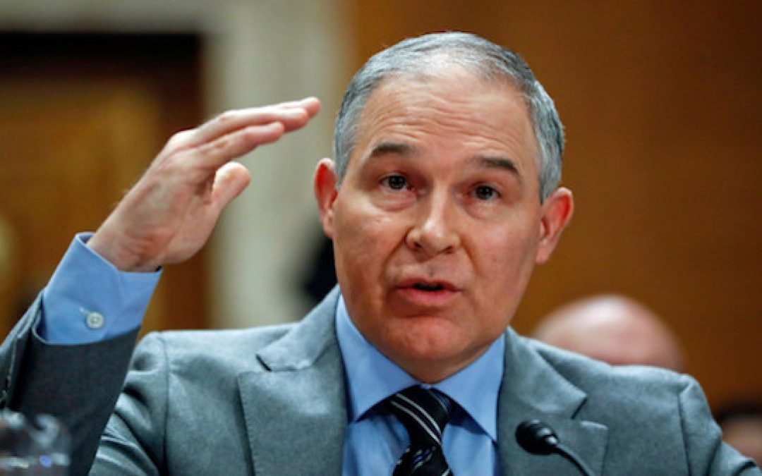 Media Campaign Against EPA's Scott Pruitt Orchestrated By Obama & Clinton Cronies