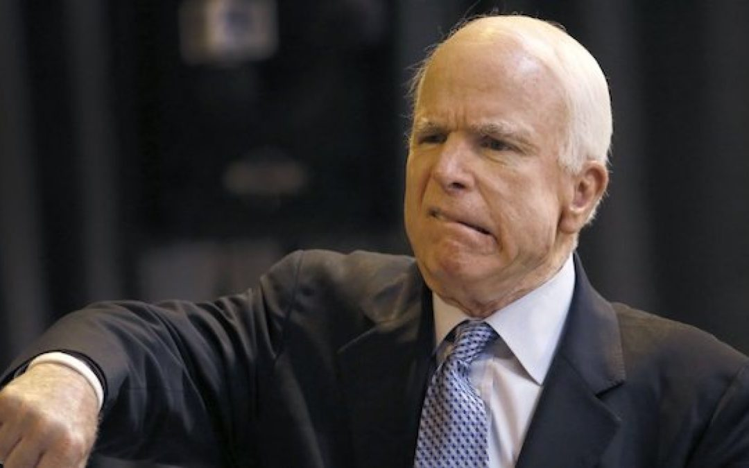 John McCain Going Out The Way He Lived: As An A-Hole!