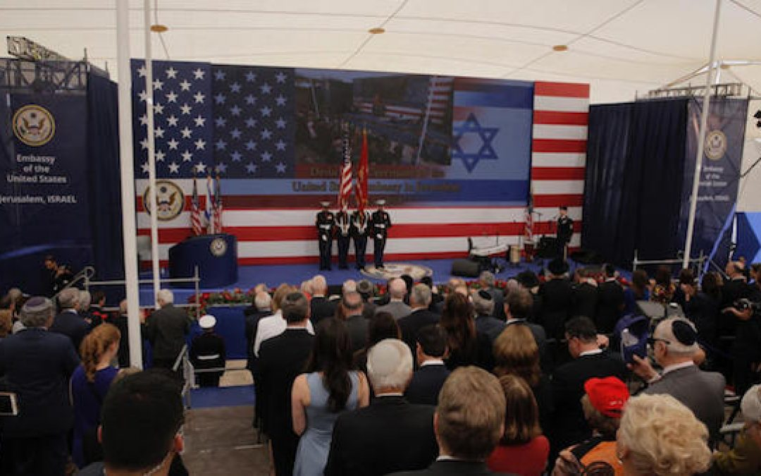 Ceremony Opening Jerusalem Embassy; Thanking Heaven And Trump