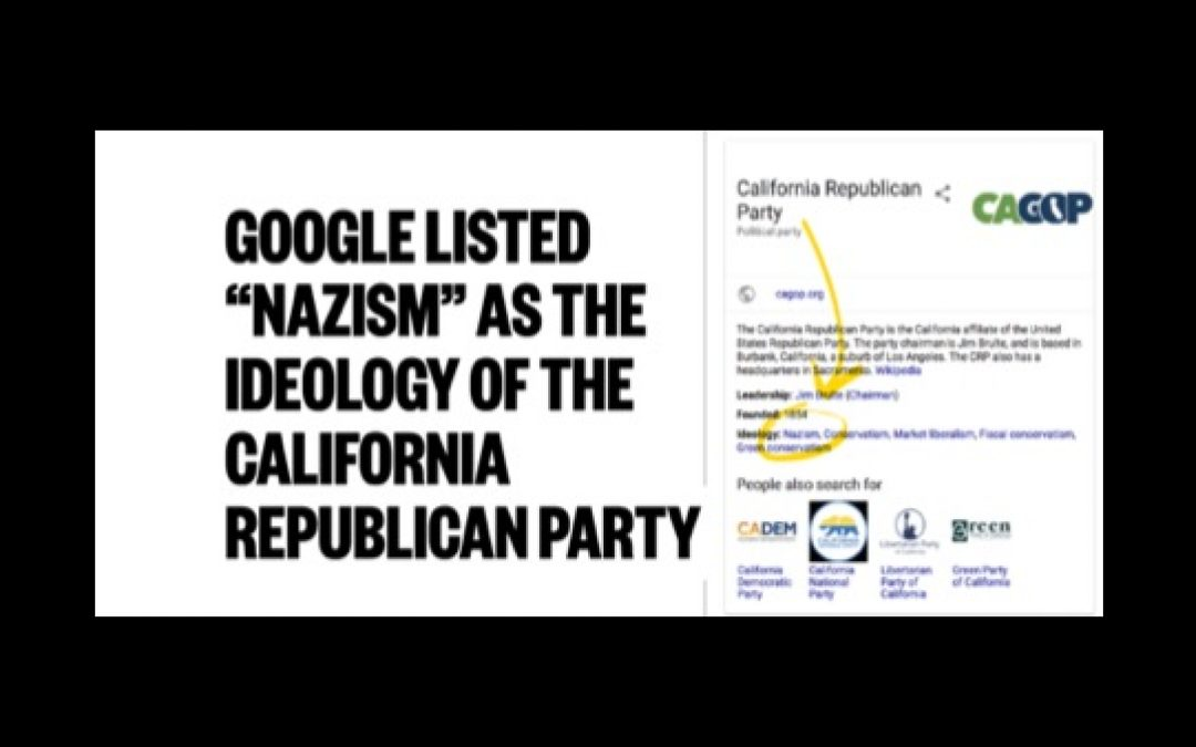 Google Classifies Republicans As Nazis
