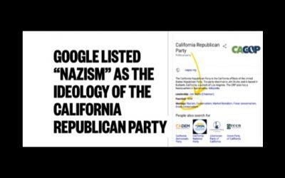 Google Classifies Republicans As Nazis