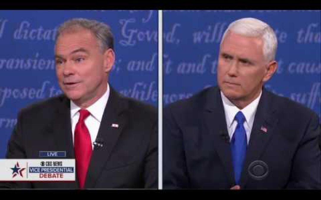 Mike Pence Handily Beat Interrupting Cow (Tim Kaine) In VP Debate