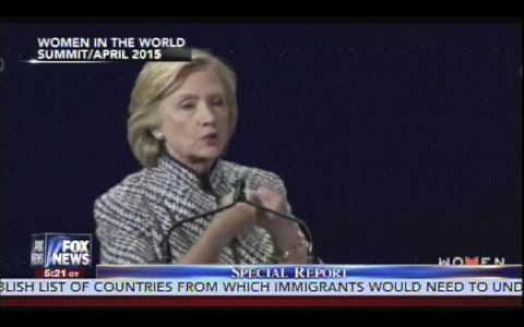 Flashback: Hillary Demands Americans Change Religious Beliefs To Suit Her