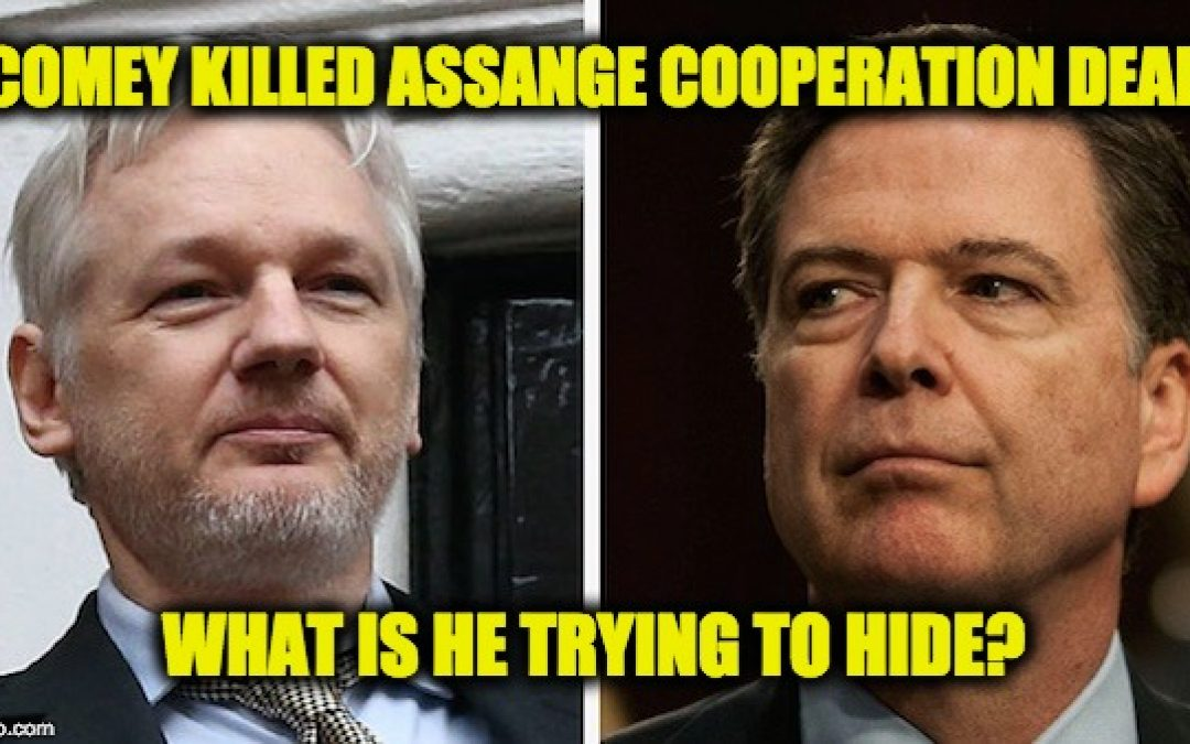 DOJ Was Negotiating Julian Assange Immunity-Cooperation Deal But James Comey Killed It, WHY?
