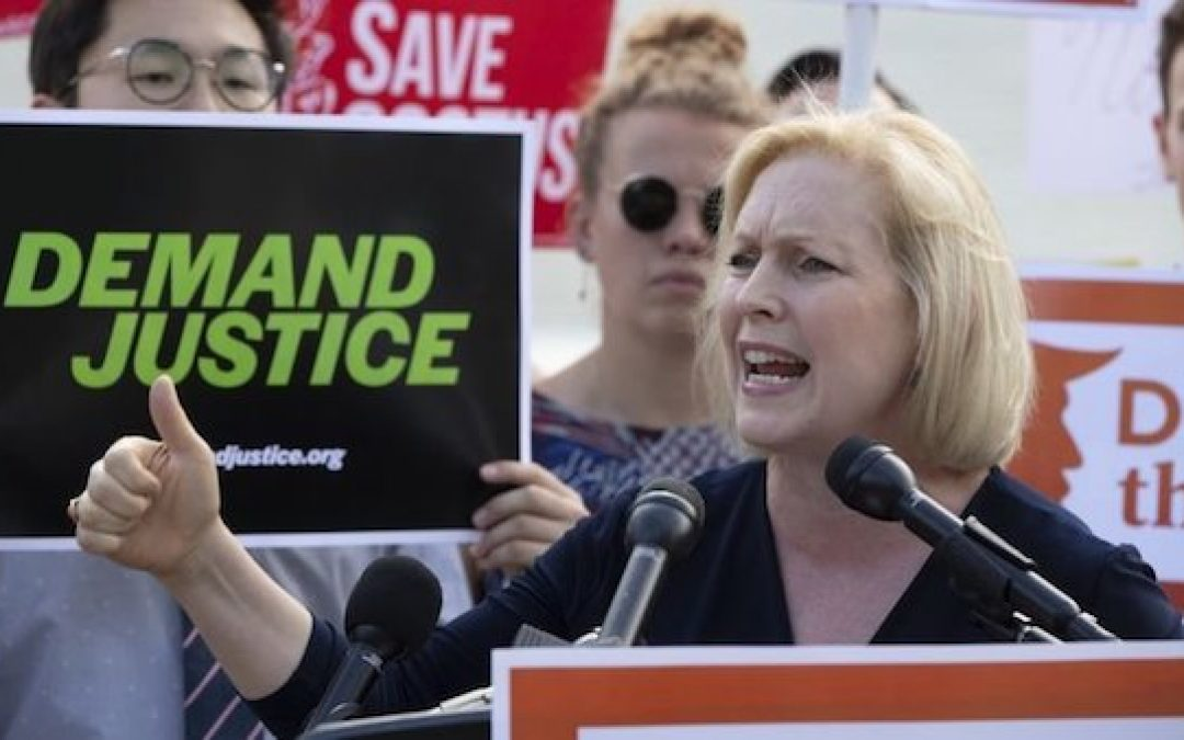 Sen. Gillibrand, A Political Hack Who Shifts Her Positions Whenever Wind Direction Changes
