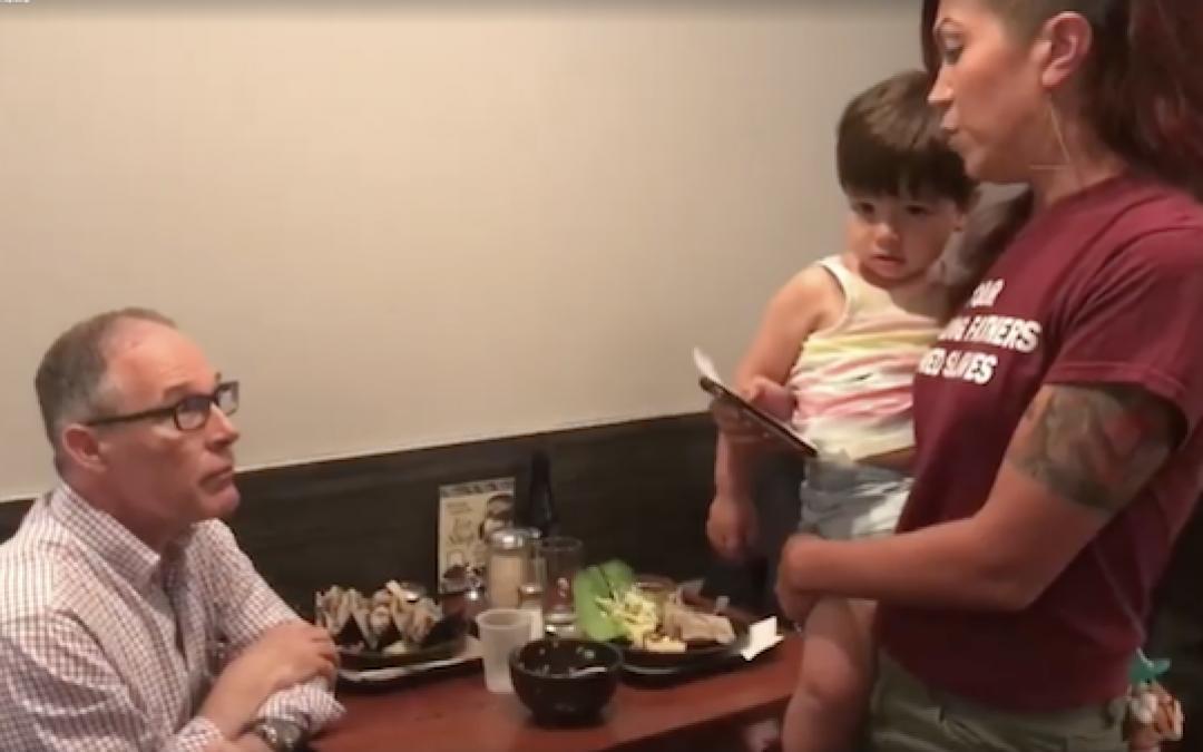 Video: Woman Confronts EPA Head Scott Pruitt At Restaurant, Demands Resignation