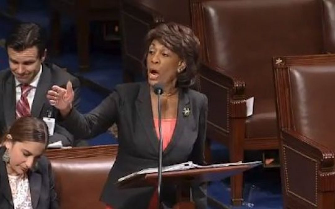 She's Lying! He Told Maxine Waters To SHUT UP!